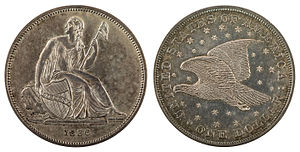 Gobrecht dollar - Image: NNC US 1836 1$ Gobrecht dollar (plain edge & name)