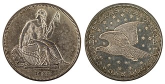 Gobrecht dollar - Image: NNC US 1836 1$ Gobrecht dollar (plain edge & name)