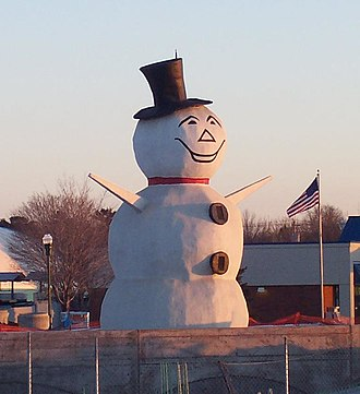 North St. Paul, Minnesota - The North Saint Paul Snowman