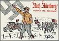 Nach Nürnberg zum Parteitag der N.S.D.A.P. (Hitlerbewegung)! 1.-4. August 1929 Hans Turba Nazi Party propaganda postcard No known copyright restriction 01.jpg