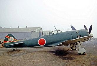 Nakajima Ki-84 - Image: Nakajima Ki 84 Hayate N3385G ONT 18.10.70 edited 3