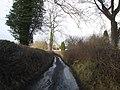 Narrow lane to Pentre Hodre - geograph.org.uk - 655002.jpg