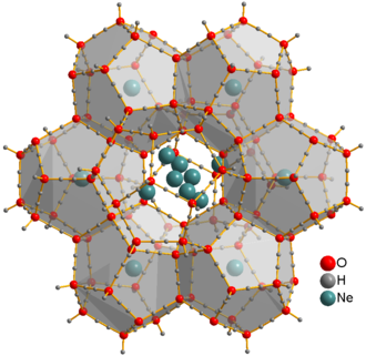 Clathrate compound - Crystal structure of neon clathrate hydrate