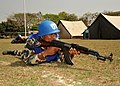 Nepalese army Cpl. Bishnu Prasad Dhakal assumes a defensive position in a security training scenario at a simulated U.N. Headquarters compound March 11, 2012, during Shanti Doot 3 in Gazipur, Bangladesh 120311-A-KC839-087.jpg