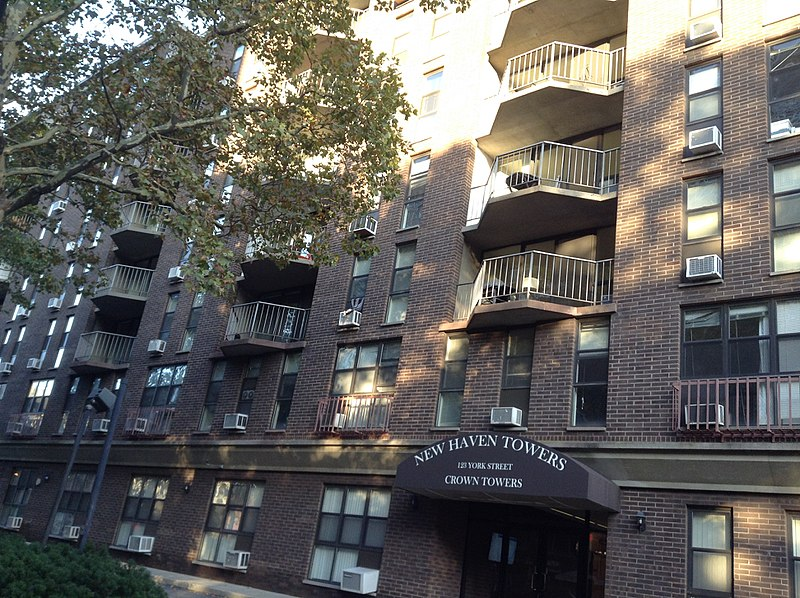 File:New Haven towers on 123 york street( chapel street historic district).jpg