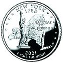 New York quarter, reverse side, 2001