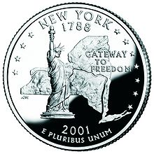 New York quarter, reverse side, 2001.jpg