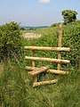 New stile on the field edge - geograph.org.uk - 454386.jpg