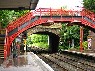 South Gosforth Metro station Station of the Tyne and Wear Metro