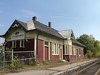 Newmarket Train Station along tracks.JPG
