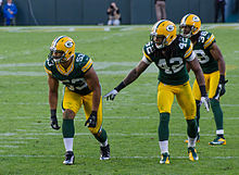 Nick Perry, Morgan Burnett and Tramon Williams - San Francisco vs Green Bay 2012.jpg