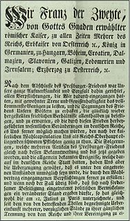 Dissolution of the Holy Roman Empire 1806 dissolution of the Holy Roman Empire following Francis IIs abdication