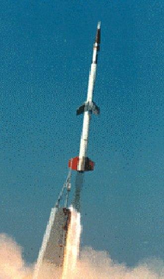 Nike-Orion - A Nike Orion rocket in flight
