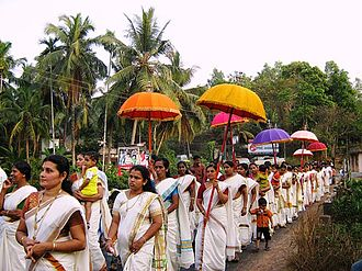 Culture of Kerala - Temple Procession in Kanhangad