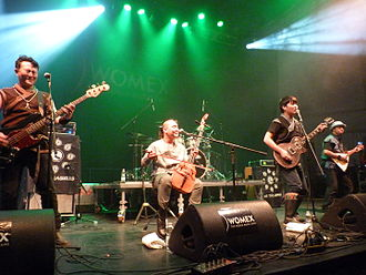 Folk metal - Nine Treasures performing at WOMEX 15, Budapest