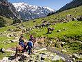 Nisha and Maya on Pony Trek from Aru to Lidderwat (14554843756).jpg