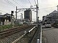 Nishitetsu Kaizuka Line on north side of Kashii-Kaenmae Station.jpg