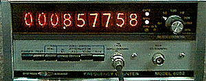 Nixie tube - Systron-Donner frequency counter from 1973 with Nixie-tube display