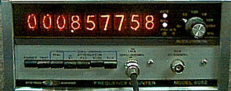 Frequency counter - Systron-Donner frequency counter from 1973 with Nixie tube display