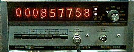 Systron Donner Frequency Counter From 1973 With Nixie Tube Display