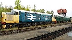 No.37314 Dalzell (Class 37) & no.D212, BR no.40012 Aureal (Class 40) (6157090364).jpg