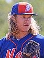 Noah Syndergaard throws live batting practice (24728383823) (cropped).jpg