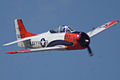 North American T-28B Trojan Navy N63NA Enemy Forces Suppression Pass 05 TICO 13March2010 (14576479596).jpg