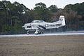 North American T-28C Trojan Sherry Berry Landing 05 TICO 13March2010 (14596219411).jpg