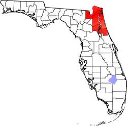 Northeast Florida counties