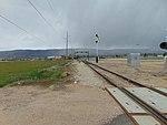 Northeast along tracks from W 650 S in Heber City, Utah, Apr 16.jpg