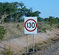 Northern Territory 130 speed limit sign P6210051.JPG