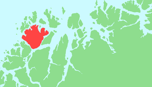 Ringvassøy - Map of Ringvassøy