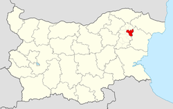 Novi Pazar Municipality within Bulgaria and Shumen Province.
