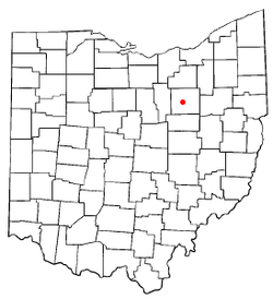 Location of Wooster, Ohio