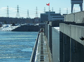 Moses-Saunders Power Dam - The dam's R.H. Saunders Generating Station