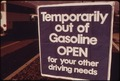 OUT OF GASOLINE SIGNS WERE INCREASINGLY EVIDENT IN OREGON DURING THE MONTH OF OCTOBER, 1973. STATIONS SUCH AS THIS... - NARA - 555411.tif