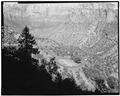 OVERALL VIEW OF HIGHWAY, LOOKING NORTHWEST - Zion-Mount Carmel Highway, Springdale, Washington County, UT HAER UTAH,27-SPDA.V,3-5.tif