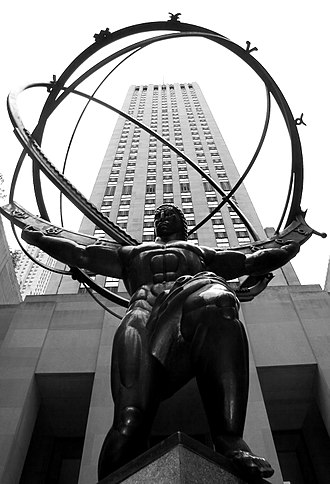 Lee Lawrie - Statue of Atlas in Rockefeller Center on Fifth Avenue in New York City, opposite St. Patrick's Cathedral.