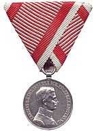 Obverse of the Silver Medal For Bravery (Austria-Hungary, Charles I).jpg