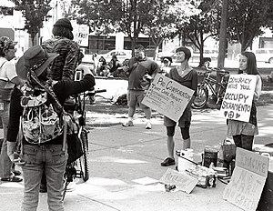 Occupy Sacramento - Image: Occupy Sacramento Protesters
