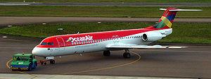 Avianca Brazil - Avianca Brazil Fokker 100 aircraft in Curitiba