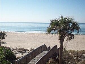 Ocean Isle Beach, North Carolina - View of the Atlantic Ocean from Ocean Isle Beach