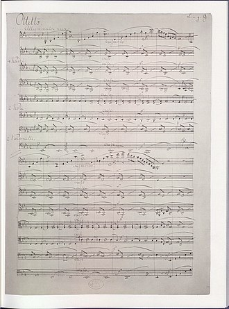 Felix Mendelssohn - First page of the manuscript of Mendelssohn's Octet (1825) (now in the US Library of Congress)