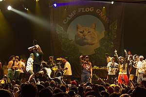 Odd Future - Odd Future, Trash Talk, and Lil Wayne performing together in September 2012.