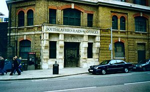 A200 road - Former South Eastern Railway offices on Tooley St