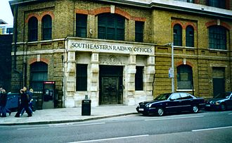 South Eastern Railway (England) - The South Eastern Railway's former headquarters in Tooley Street, London, near London Bridge station.