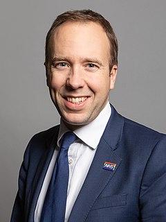 Matt Hancock British Conservative politician