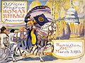 Program for the woman suffrage parade