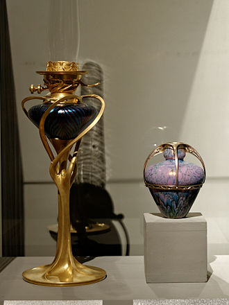 Tony Selmersheim - Image: Oil lamp Tony Selmersheim