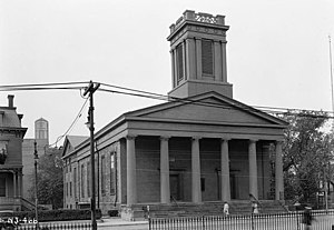 Bergen Square - Front of the Old Bergen Church in 1938